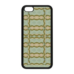 Celtic Wood Knots In Decorative Gold Apple Iphone 5c Seamless Case (black) by pepitasart