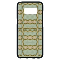 Celtic Wood Knots In Decorative Gold Samsung Galaxy S8 Black Seamless Case by pepitasart