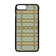 Celtic Wood Knots In Decorative Gold Apple Iphone 8 Plus Seamless Case (black) by pepitasart