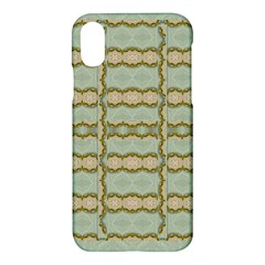 Celtic Wood Knots In Decorative Gold Apple Iphone X Hardshell Case by pepitasart