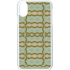 Celtic Wood Knots In Decorative Gold Apple Iphone X Seamless Case (white) by pepitasart