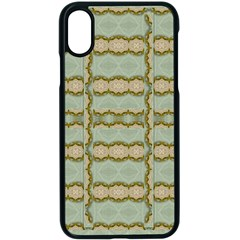 Celtic Wood Knots In Decorative Gold Apple Iphone X Seamless Case (black) by pepitasart