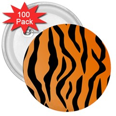 Tiger Fur 2424 100p 3  Buttons (100 Pack)  by SimplyColor