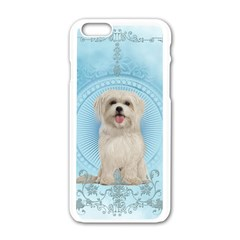 Cute Little Havanese Puppy Apple Iphone 6/6s White Enamel Case by FantasyWorld7