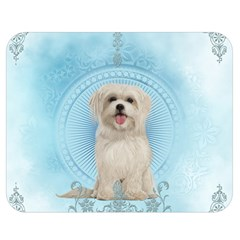 Cute Little Havanese Puppy Double Sided Flano Blanket (medium)  by FantasyWorld7