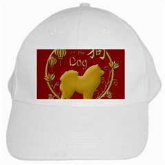 Year Of The Dog   Chinese New Year White Cap by Valentinaart