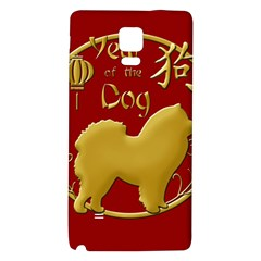 Year Of The Dog   Chinese New Year Galaxy Note 4 Back Case by Valentinaart