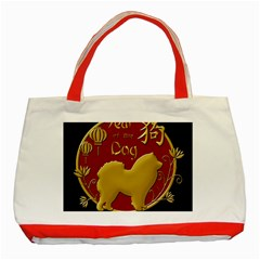 Year Of The Dog   Chinese New Year Classic Tote Bag (red) by Valentinaart