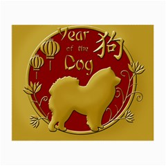 Year Of The Dog   Chinese New Year Small Glasses Cloth by Valentinaart
