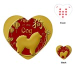 Year of the Dog - Chinese New Year Playing Cards (Heart)  Front