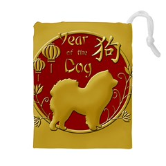 Year Of The Dog   Chinese New Year Drawstring Pouches (extra Large) by Valentinaart