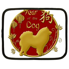 Year Of The Dog   Chinese New Year Netbook Case (xxl)  by Valentinaart