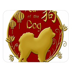 Year Of The Dog   Chinese New Year Double Sided Flano Blanket (large)  by Valentinaart
