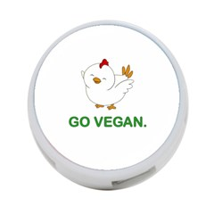Go Vegan   Cute Chick  4 Port Usb Hub (one Side) by Valentinaart