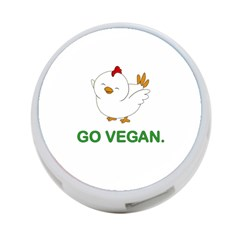Go Vegan   Cute Chick  4 Port Usb Hub (two Sides)  by Valentinaart