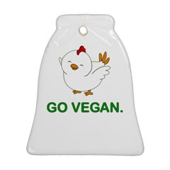 Go Vegan   Cute Chick  Bell Ornament (two Sides) by Valentinaart