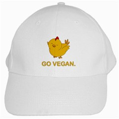 Go Vegan   Cute Chick  White Cap by Valentinaart