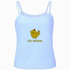 Go Vegan   Cute Chick  Baby Blue Spaghetti Tank by Valentinaart