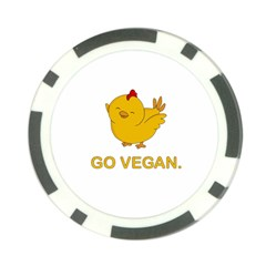Go Vegan   Cute Chick  Poker Chip Card Guard by Valentinaart
