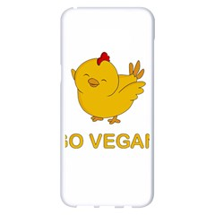 Go Vegan   Cute Chick  Samsung Galaxy S8 Plus White Seamless Case by Valentinaart