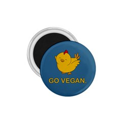 Go Vegan   Cute Chick  1 75  Magnets by Valentinaart