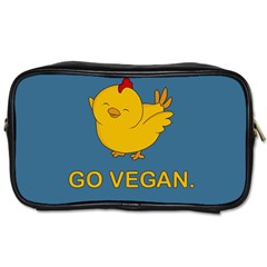 Go Vegan   Cute Chick  Toiletries Bags 2 Side by Valentinaart