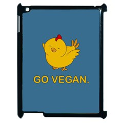 Go Vegan   Cute Chick  Apple Ipad 2 Case (black) by Valentinaart