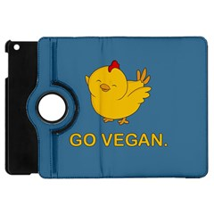 Go Vegan   Cute Chick  Apple Ipad Mini Flip 360 Case by Valentinaart