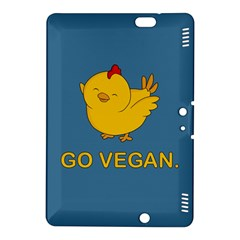 Go Vegan   Cute Chick  Kindle Fire Hdx 8 9  Hardshell Case by Valentinaart