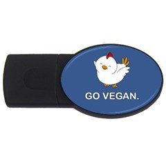 Go Vegan   Cute Chick  Usb Flash Drive Oval (2 Gb) by Valentinaart