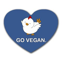 Go Vegan   Cute Chick  Heart Mousepads by Valentinaart
