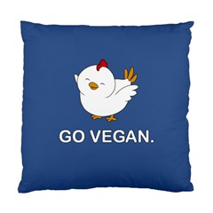 Go Vegan   Cute Chick  Standard Cushion Case (two Sides) by Valentinaart