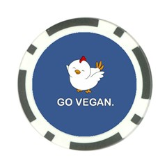 Go Vegan   Cute Chick  Poker Chip Card Guard (10 Pack) by Valentinaart