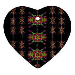 Paradise Flowers In A Decorative Jungle Ornament (heart) by pepitasart