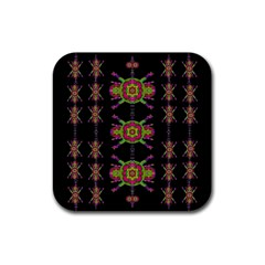 Paradise Flowers In A Decorative Jungle Rubber Square Coaster (4 Pack)  by pepitasart