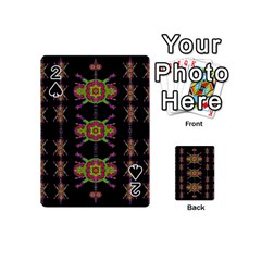 Paradise Flowers In A Decorative Jungle Playing Cards 54 (mini)  by pepitasart