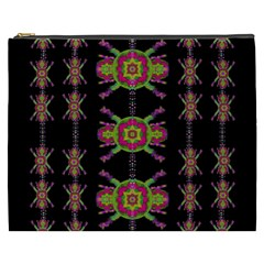 Paradise Flowers In A Decorative Jungle Cosmetic Bag (xxxl)  by pepitasart