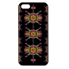 Paradise Flowers In A Decorative Jungle Apple Iphone 5 Seamless Case (black) by pepitasart