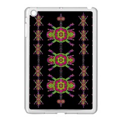 Paradise Flowers In A Decorative Jungle Apple Ipad Mini Case (white) by pepitasart