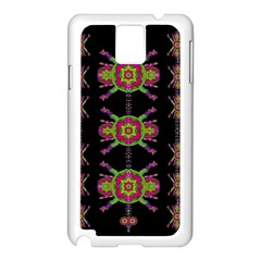Paradise Flowers In A Decorative Jungle Samsung Galaxy Note 3 N9005 Case (white) by pepitasart