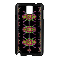 Paradise Flowers In A Decorative Jungle Samsung Galaxy Note 3 N9005 Case (black) by pepitasart