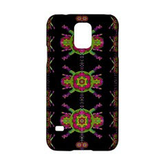 Paradise Flowers In A Decorative Jungle Samsung Galaxy S5 Hardshell Case  by pepitasart