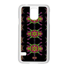 Paradise Flowers In A Decorative Jungle Samsung Galaxy S5 Case (white) by pepitasart