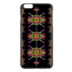 Paradise Flowers In A Decorative Jungle Apple Iphone 6 Plus/6s Plus Black Enamel Case by pepitasart