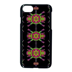 Paradise Flowers In A Decorative Jungle Apple Iphone 8 Seamless Case (black) by pepitasart