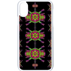 Paradise Flowers In A Decorative Jungle Apple Iphone X Seamless Case (white) by pepitasart