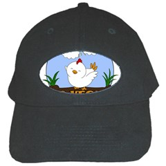 Go Vegan   Cute Chick  Black Cap by Valentinaart