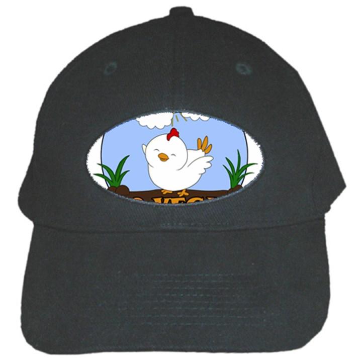 Go Vegan - Cute Chick  Black Cap