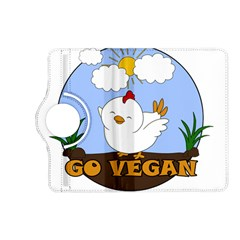Go Vegan   Cute Chick  Kindle Fire Hd (2013) Flip 360 Case by Valentinaart