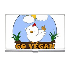 Go Vegan   Cute Chick  Business Card Holders by Valentinaart